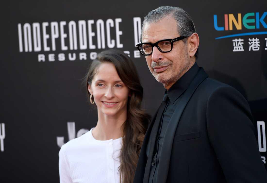 Emilie Livingston och Jeff Goldblum.