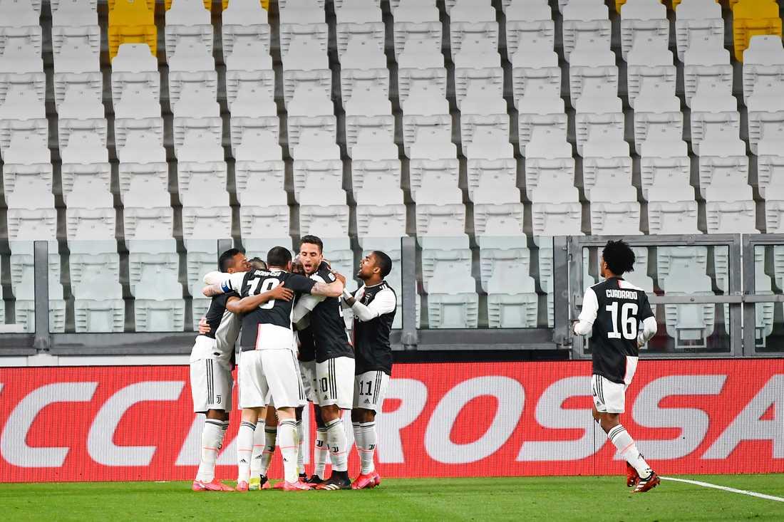 Juventus match mot Inter i söndags spelades inför tomma läktare.