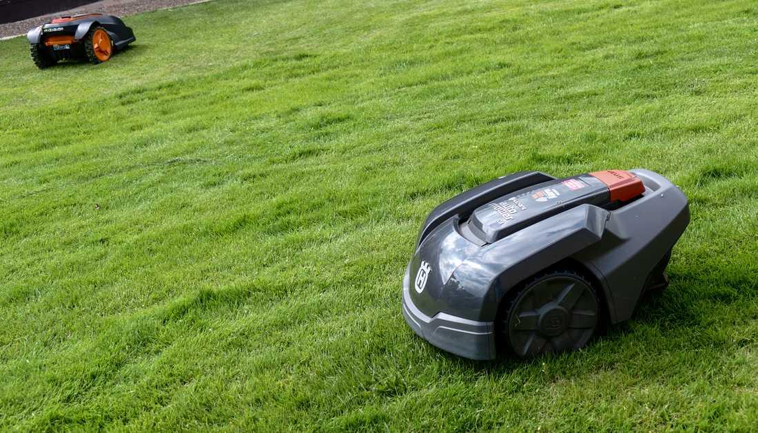 ...samt robotgräsklippare.