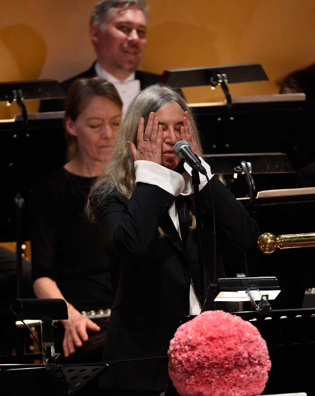 Patti Smith under framträdandet.
