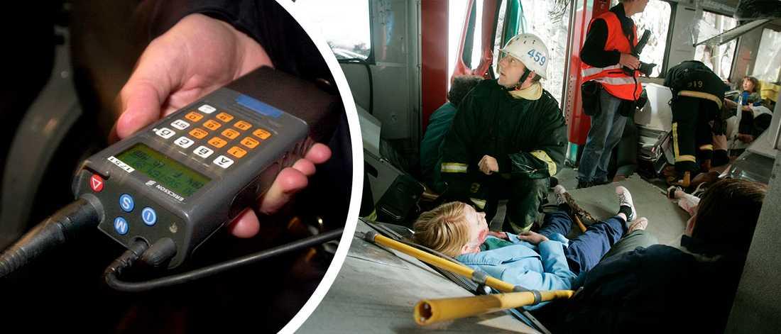Arkivbilder. En rad myndigheter i Uppsala har övat samverkan vid en simulerad större olycka med flera skadade.