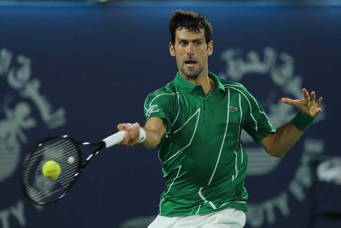 Novak Djokovic donerar nästan 11 miljoner kronor till medicins utrustning efter coronavirusets spridning i världen. Arkivbild.