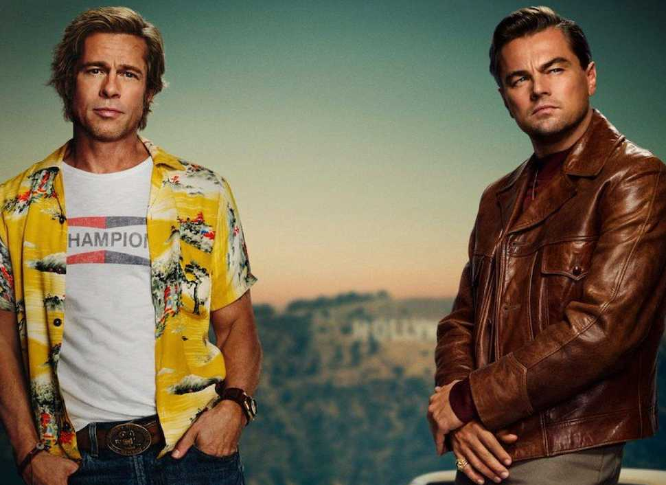 "Brad Pitt och Leonardo DiCaprio i ""Once upon a time in Hollywood""."