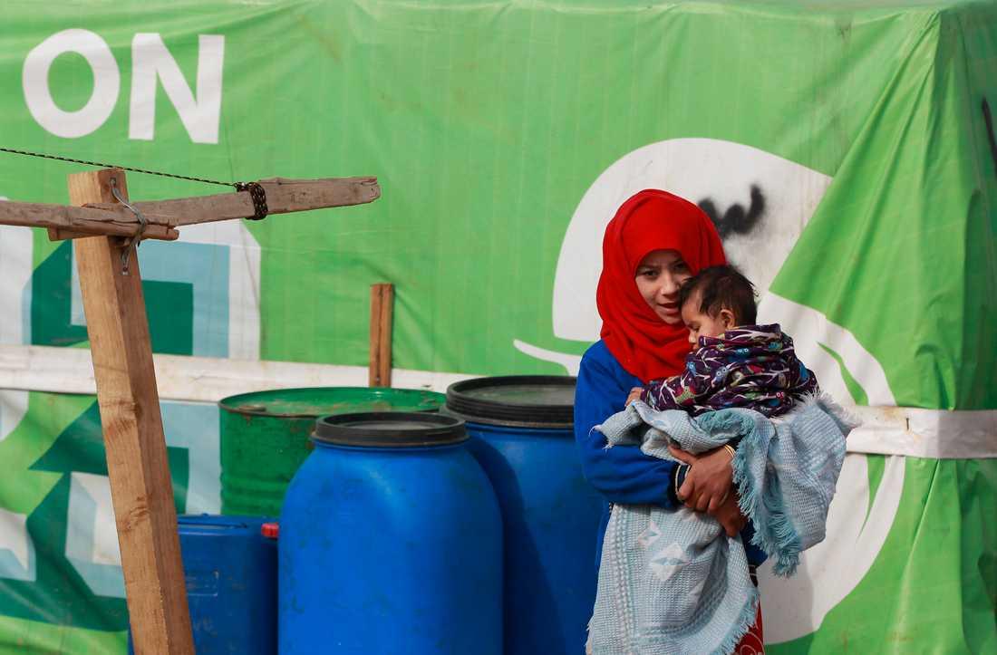 Minderåriga syriska flyktingar i ett flyktingläger i Libanon. Arkivbild.