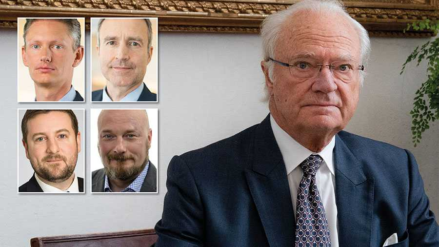 Vi anser att kritiken mot kungen är obefogad. Att Sverige misslyckats med hanteringen av coronapandemin är ett etablerat faktum, både nationellt och internationellt, skriver fyra SD-politiker i konstitutionsutskottet. (Arkivbild)