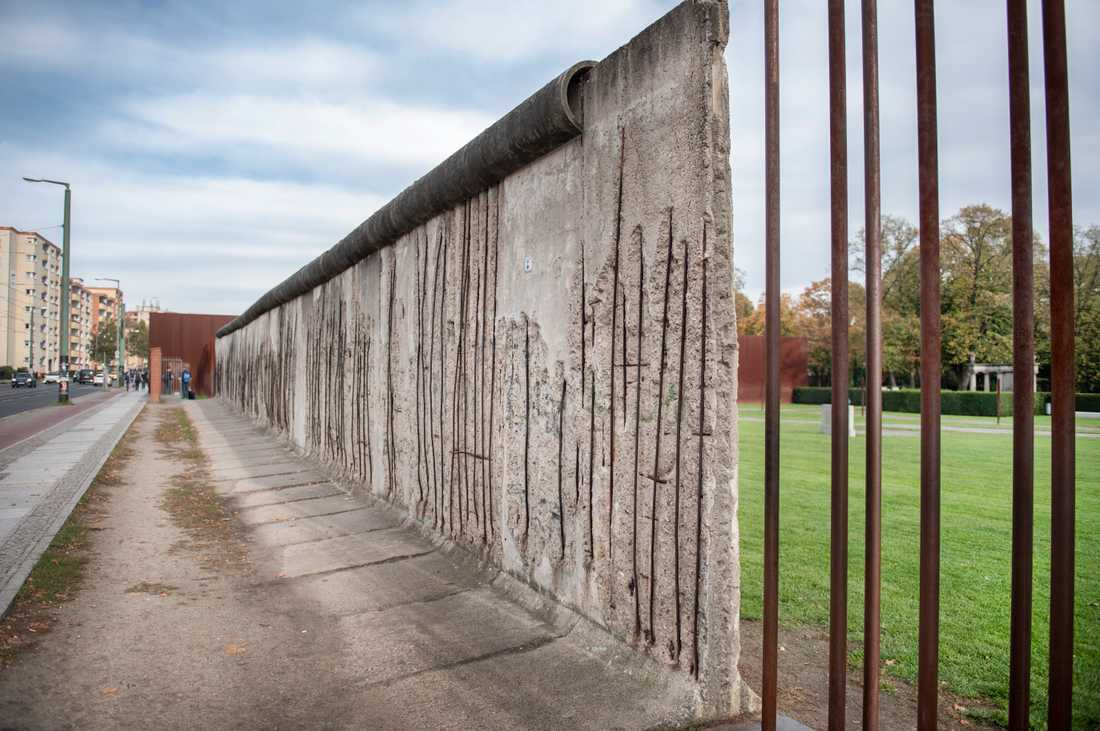 En sektion av Berlinmuren.