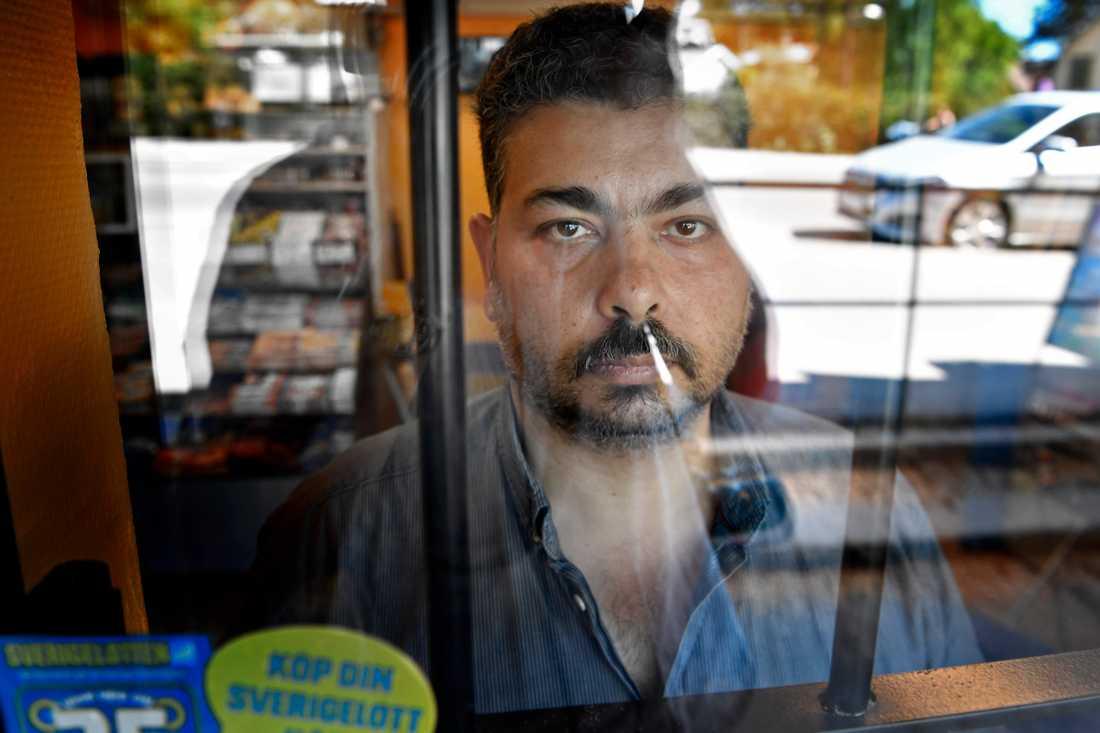 """""""Jag accepterar inte sånt här, jag försvarar allt jag har"""", säger Nader El Ashkar."""