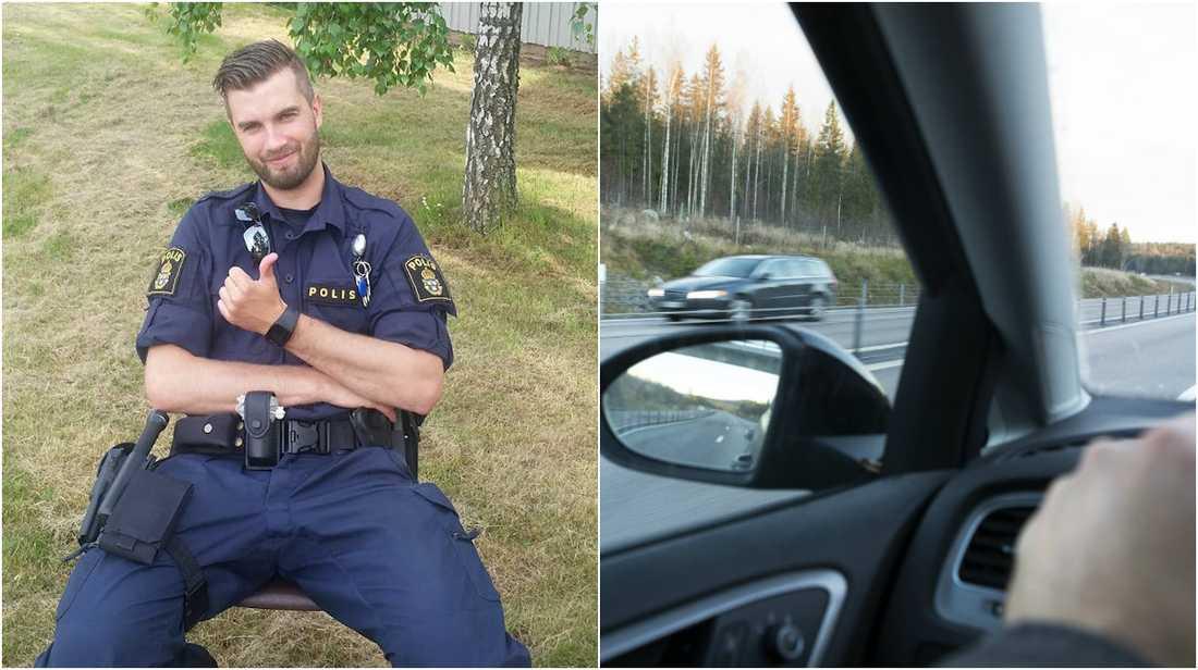 Andreas ryter ifrån de som varnar för trafikkontroller.
