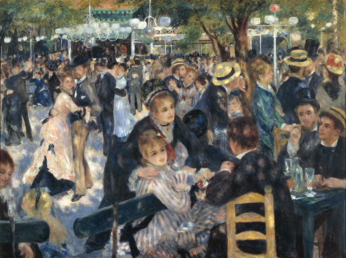 "Renoirs tavla ""Bal du moulin de la Galette"" från 1876."
