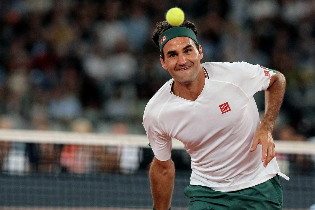 Roger Federer missar Franska mästerskapen efter att ha opererat sitt högra knä. Arkivbild.