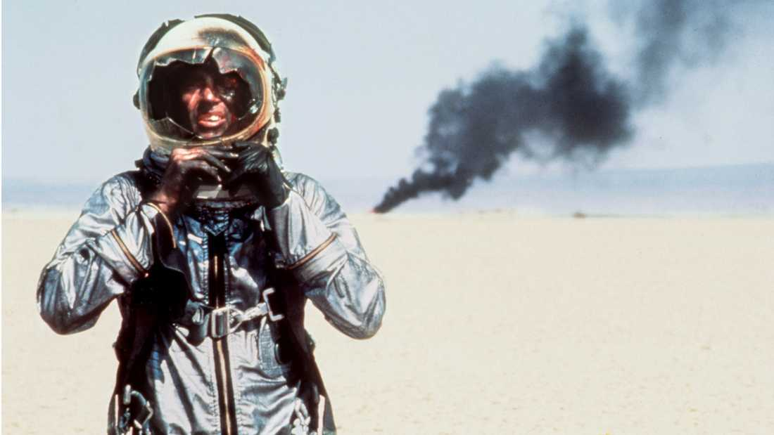 "Sam Shepard i ""Rätta virket"" (""The right stuff"")."