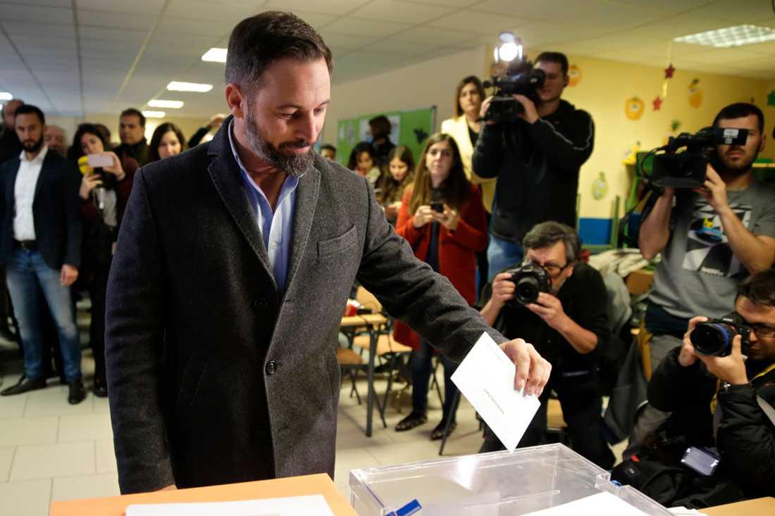 Santiago Abascal, partiledare Vox.