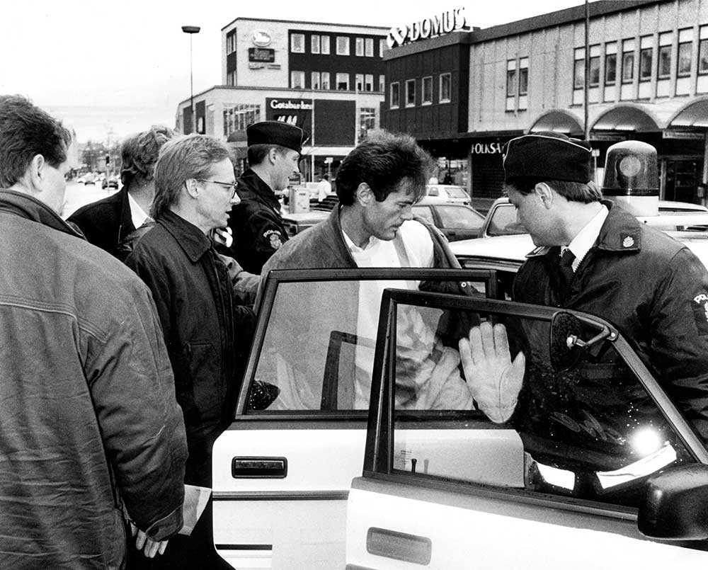 Svartenbrandt grips efter ett kidnappningsdrama i Säter 1990.