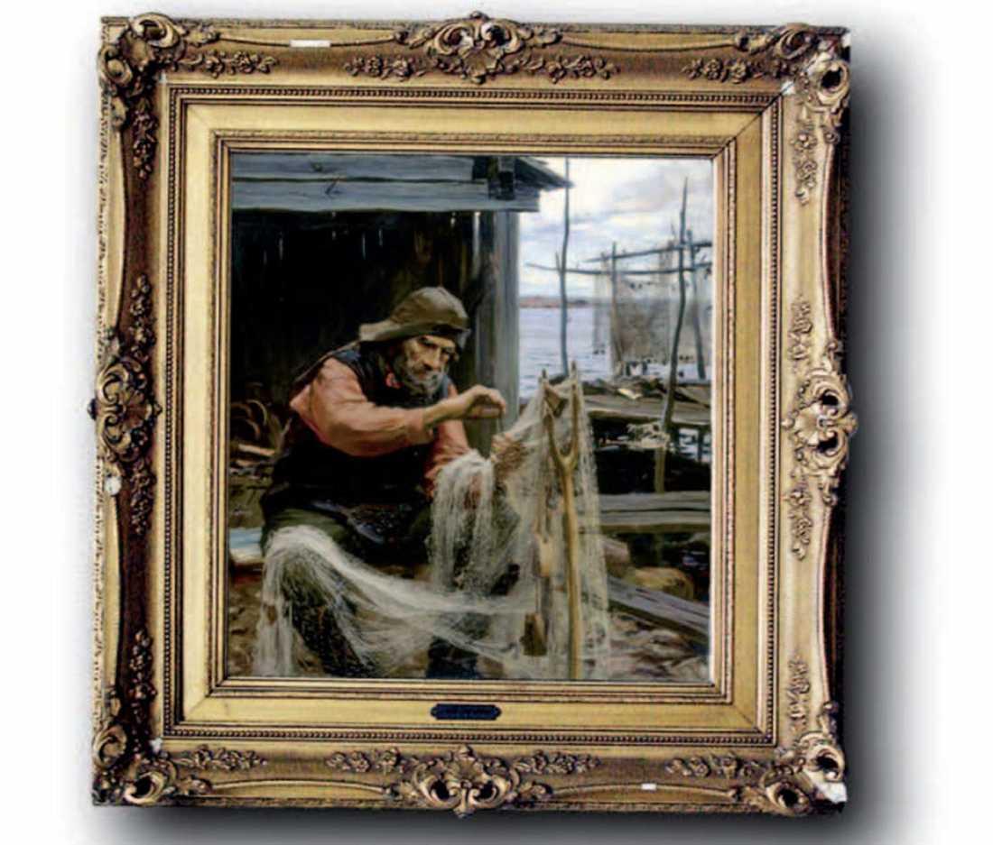 """""""Norsk fiskare"""", en av de två Edelfelt-tavlor som mannen erkänt att han har förfalskat."""