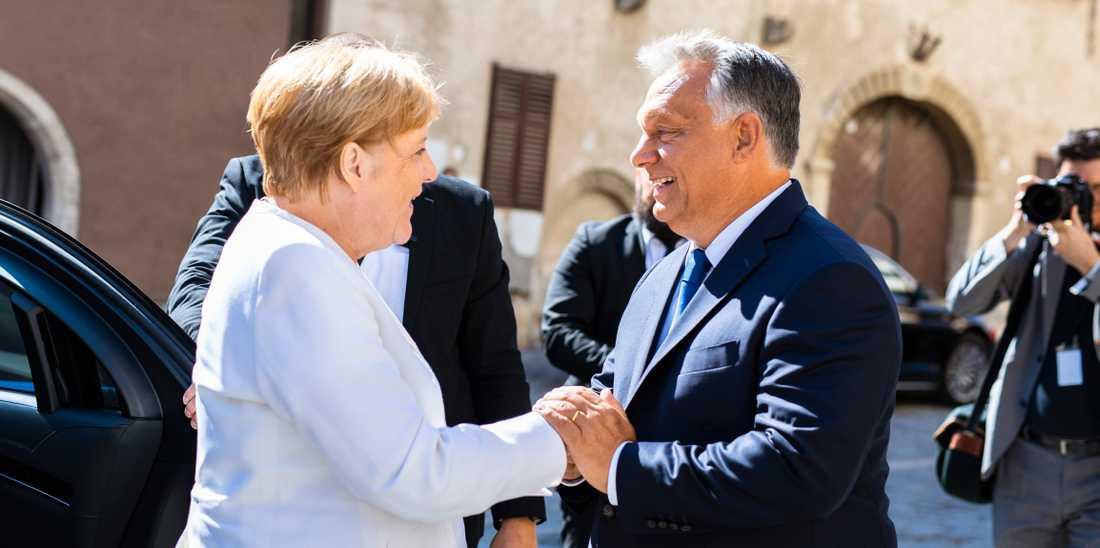 I går möttes Tysklands Angela Merkel och Ungerns Viktor Orbán för att fira demokratins pånyttfödelse i Europa.