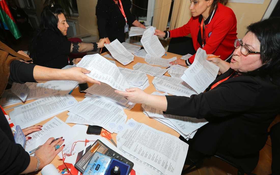 Internationella observatörer tror inte att allt har gått rätt till i det azeriska valet i helgen.
