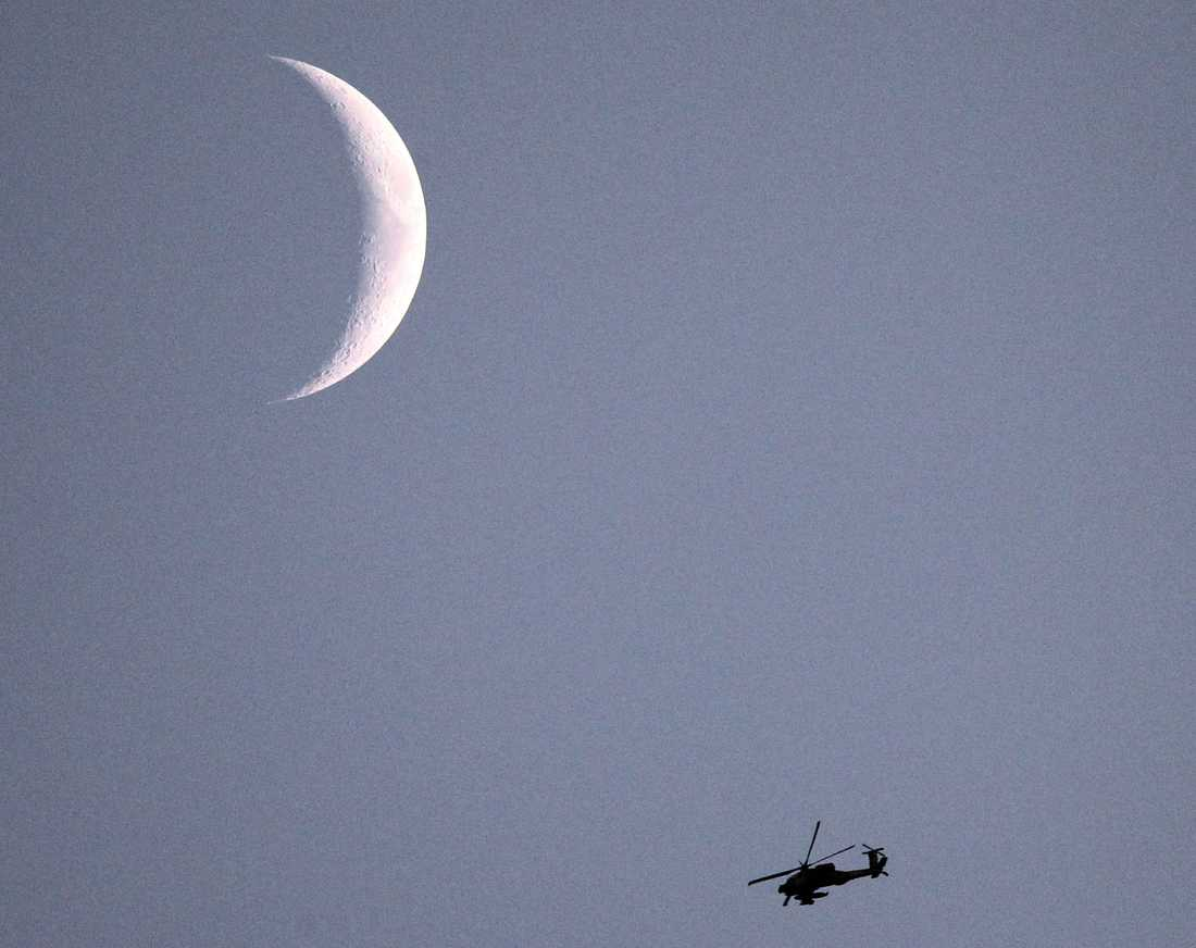 En israelisk Apache-helikopter.