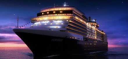 Eurodam Holland-America Lines nya fartyg Eurodam är ett av de lyxigare kryssningsfartygen.