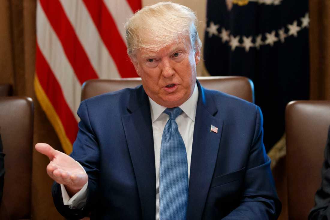 Efter president Donald Trumps uttalanden om sina politiska motståndare med invandrarbakgrund har en resolution om att ställa honom inför riksrätt lagts fram i det amerikanska representanthuset. Arkivbild.