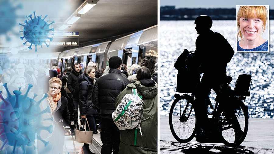 Det finns en risk att kollektivtrafiken blir ett kluster för smittspridning och att framkomligheten på våra vägar blir sämre. Båda dessa scenarier måste till varje pris undvikas. Därför: Ta cykeln! Till arbetet, till lämningen på förskolan, tillmataffären, skriver Christine Lorne, ansvarig för smittskyddsfrågor i Region Stockholm.