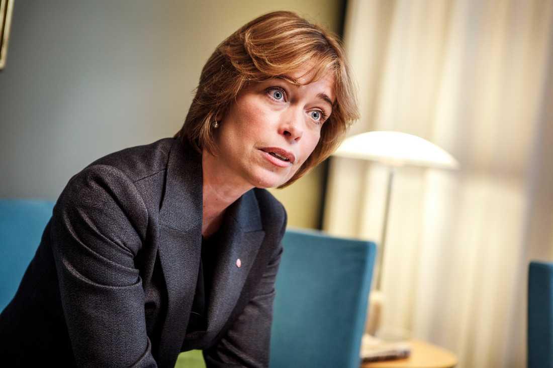 I dag röstar riksdagen om misstroende mot socialförsäkringsminister Annika Strandhäll (S). Arkivbild.