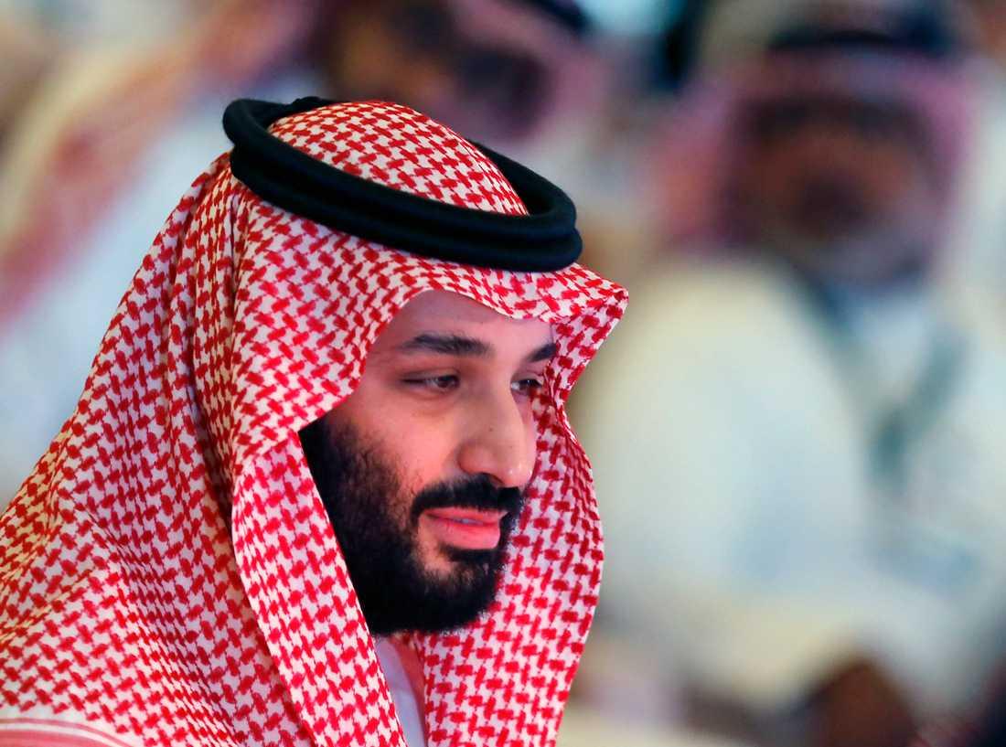 Låg Mohammed bin Salman bakom mordet? Bild på kronprinsen vid en stor investeringskonferens i Riyad i slutet av oktober, tre veckor efter mordet i Istanbul. Arkivbild.