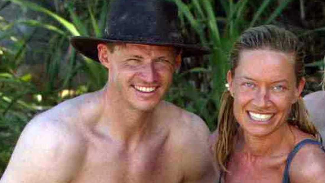 """Mikael """"Soldoktorn"""" Sandström och Camilla Eggenberger i """"Robinson"""" 2003."""