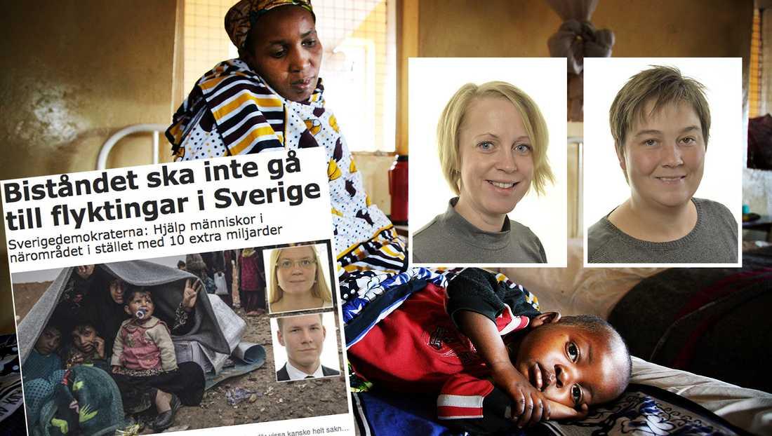 Sveriges bistånd till andra länder skulle med SD:s politik innebära nedskärningar 15 miljarder och en reträtt från Sveriges ställning som en humanitär stormakt, skriver debattörerna.