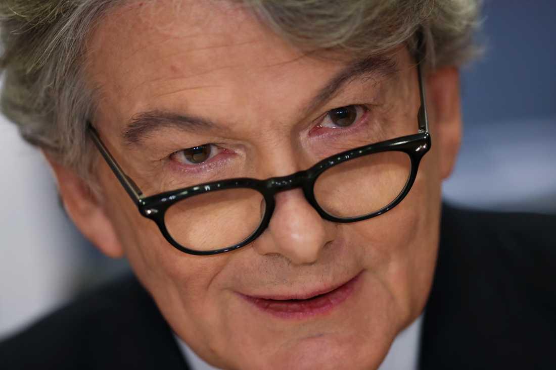 Franske förre finansministern Thierry Breton hörs i EU-parlamentet inför sitt eventuella tillträde som EU-kommissionär.