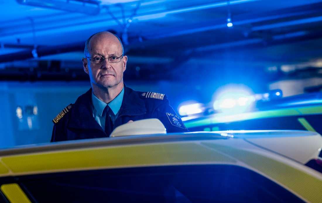 Mats Löfving, regionpolischef i Stockholm. Arkivbild.