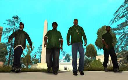 """Grand theft auto: San Andreas""."
