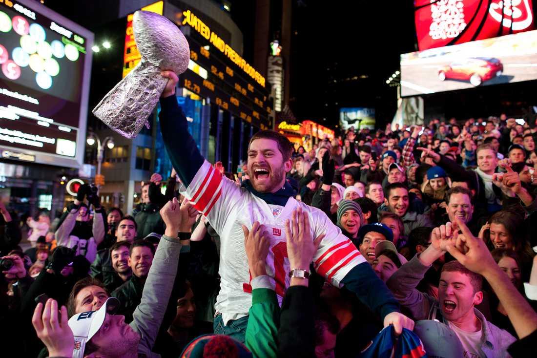 Hela Times Square förvandlades till en gigantisk fest.