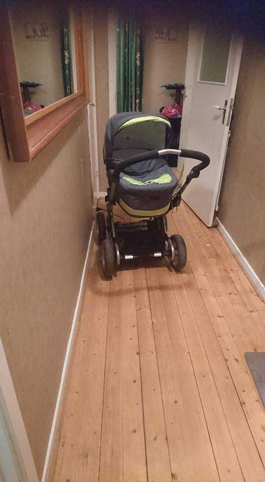 Det ser ut som en helt vanlig barnvagn...