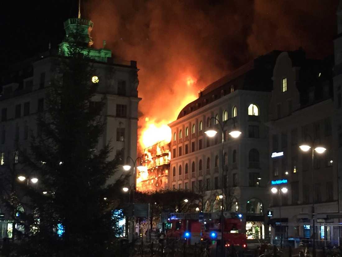 Branden vid Stureplan.