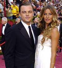 Leonardo DiCaprio och Gisele Bundchen på Oscarsgalan.