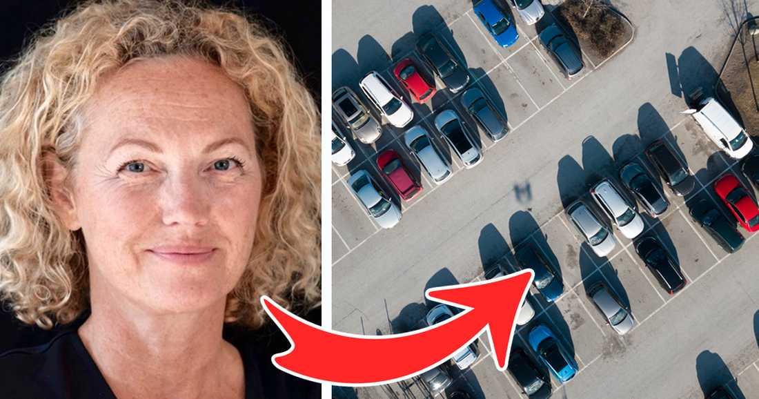 Susanna Udvardi, verksamhetschef på Freezonen har sina möten på parkeringsplatser.