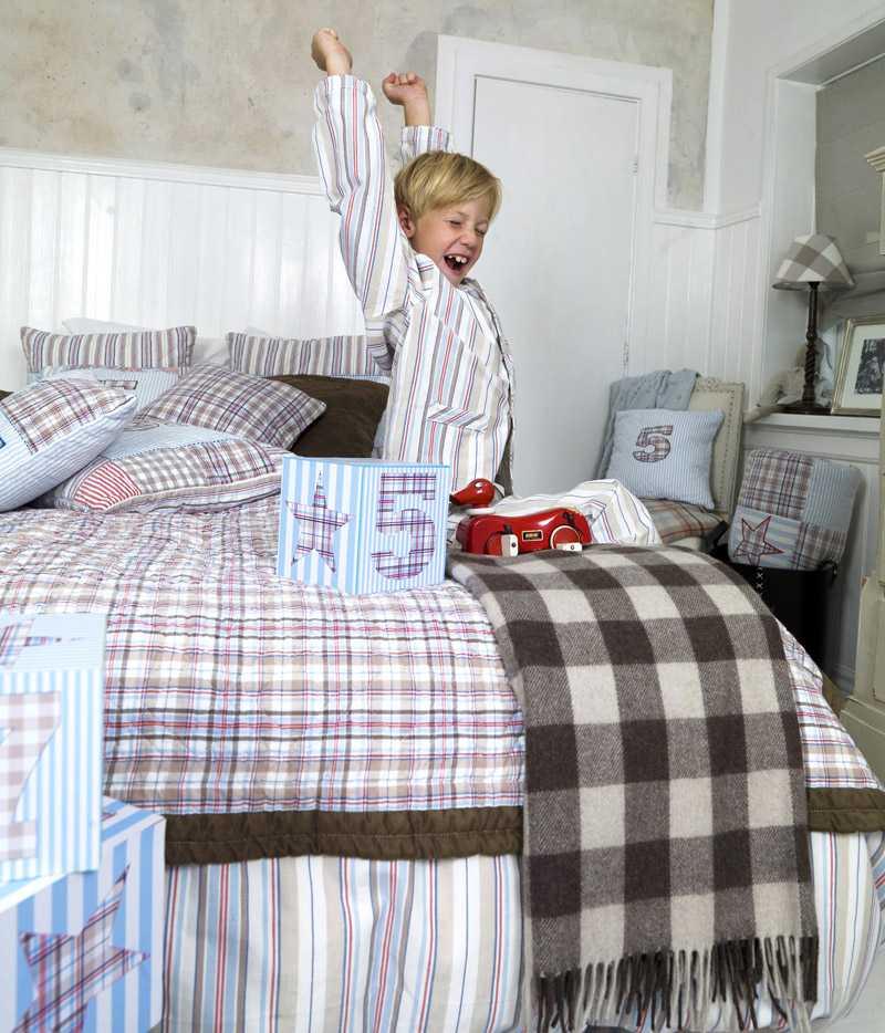 Godmorgon! Barnrummet känns extra ombonat med matchande textilier.
