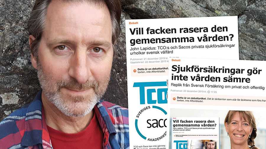 Min artikel syftade till att få TCO och Saco att svara på om de vill fortsätta att elda på utvecklingen med privata sjukförsäkringar. Men facken vill inte svara. I stället låter de Svensk Försäkring föra deras talan och bedriva sin propaganda mot den svenska välfärdsmodellen, skriver John Lapidus.