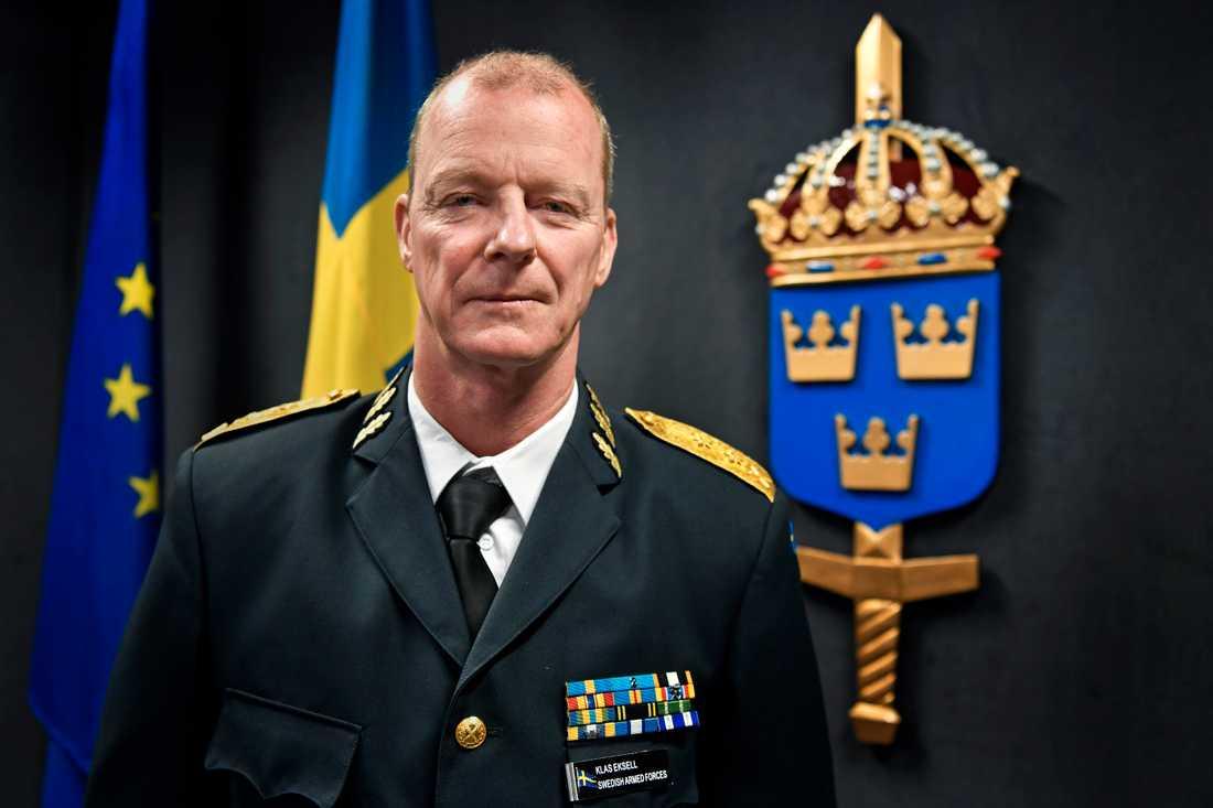 Försvarets personaldirektör Klas Eksell.