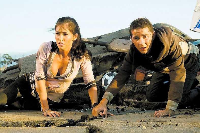 "Megan Fox och Shia LaBeouf i ""Transformers""."