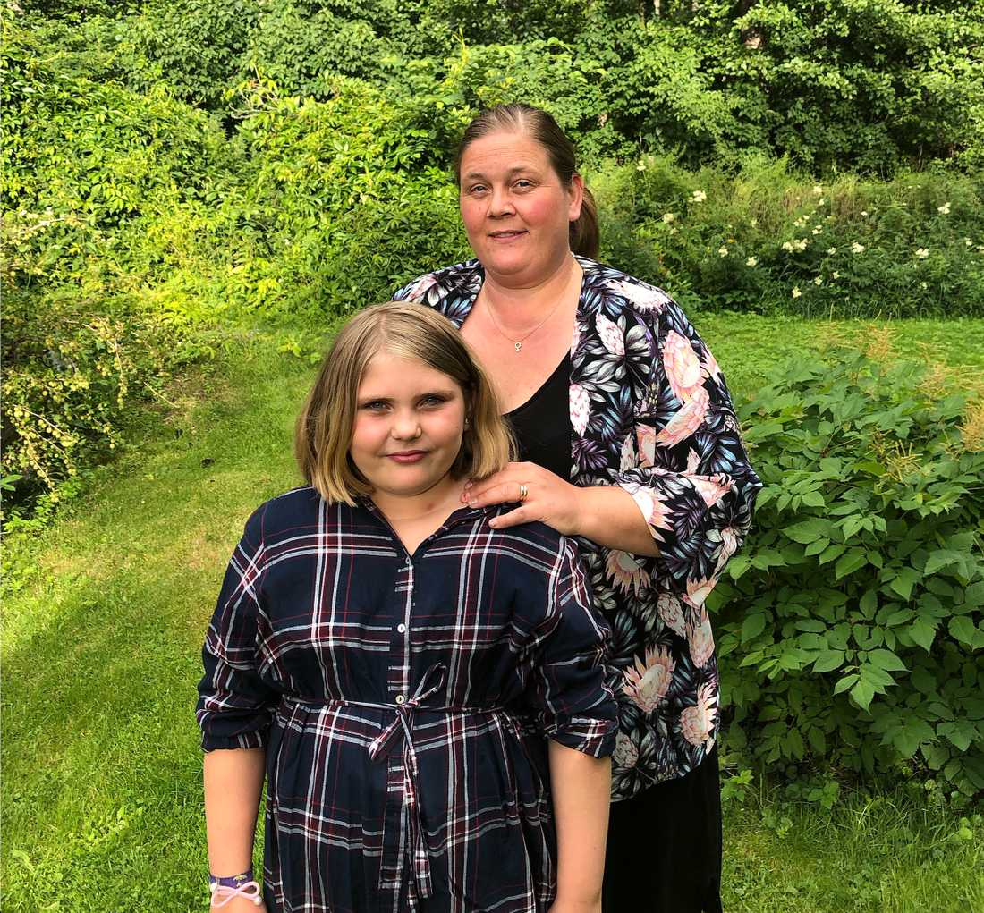 Tindra Welin och dottern Hilda.