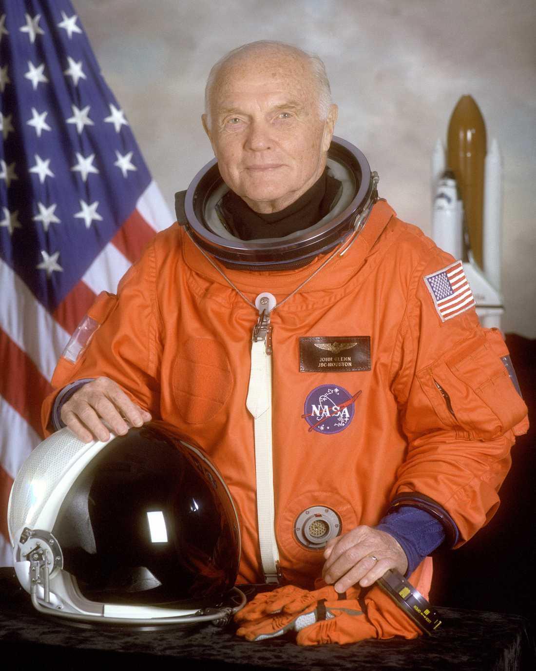 John Glenn, tillbaka i rymden 1998.