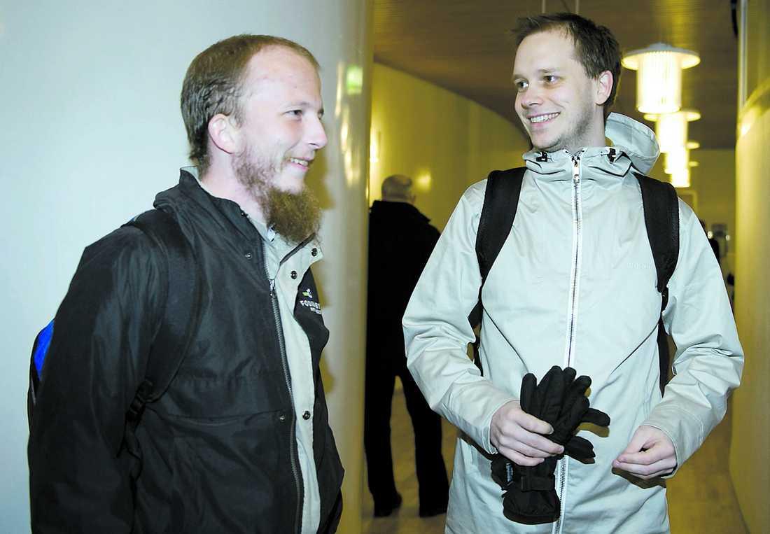 Gottfrid Svartholm Warg och Peter Sunde Kolmisoppi.