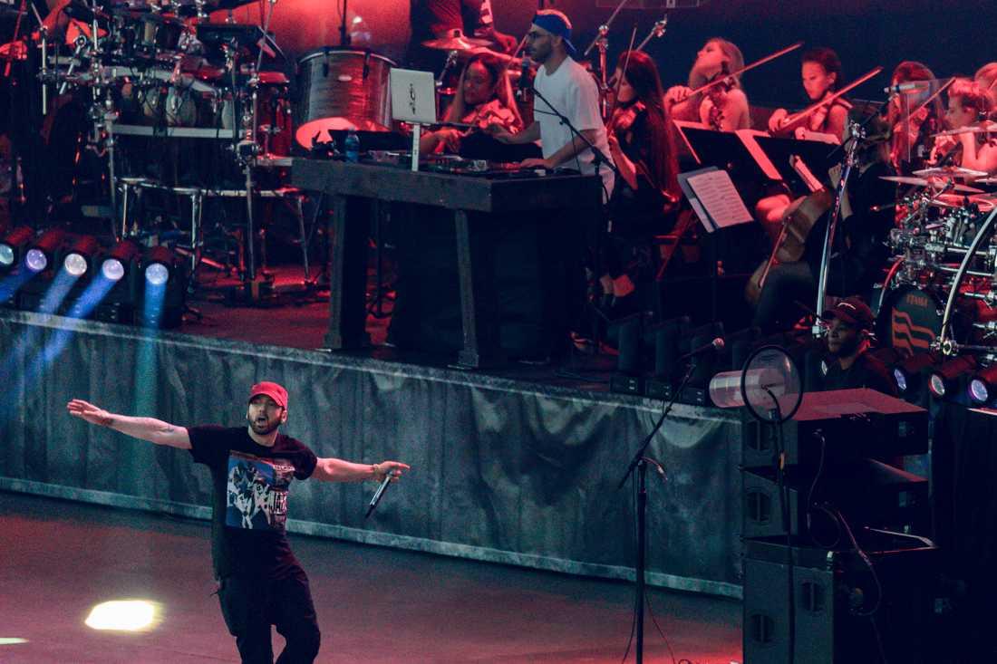 """Eminem på Sommertid festival i Oslo. På måndag kommer """"Revival tour"""" till Stockholm."""