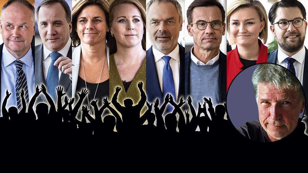 Om det är politisk gränslöshet man söker, är det en gyllene tidsålder vi nu går till mötes. Politikens sociala förankring, ideologiernas koppling till människors livsbetingelser är ett minne blott, skriver Mats Sederholm. Bilden är ett montage.
