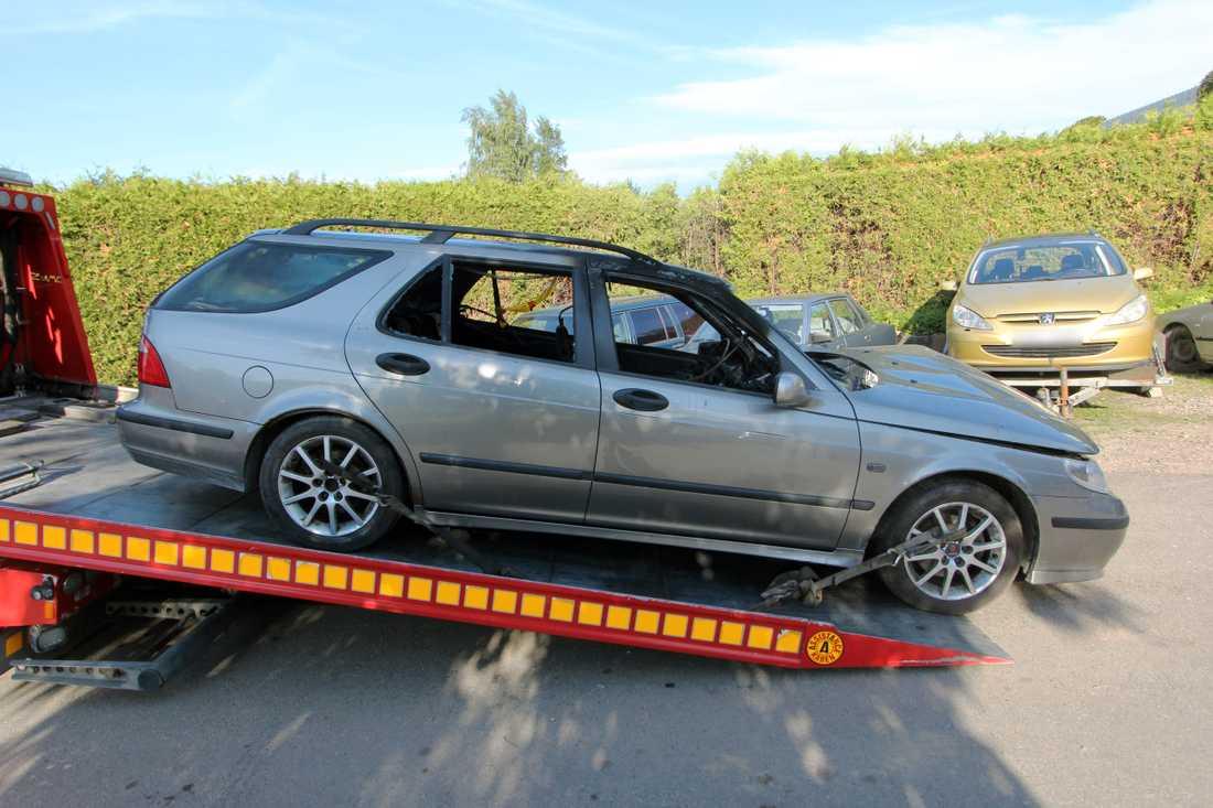 Den här bilen sätts i samband med trippelmordet i Malmö i juni i år.