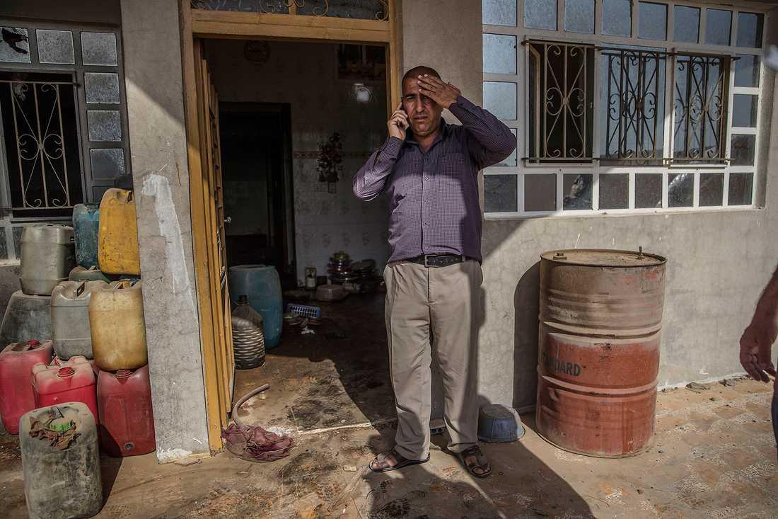 """""""Vi var lyckliga här, men nu är platsen förstörd för alltid"""", säger Ahmed."""