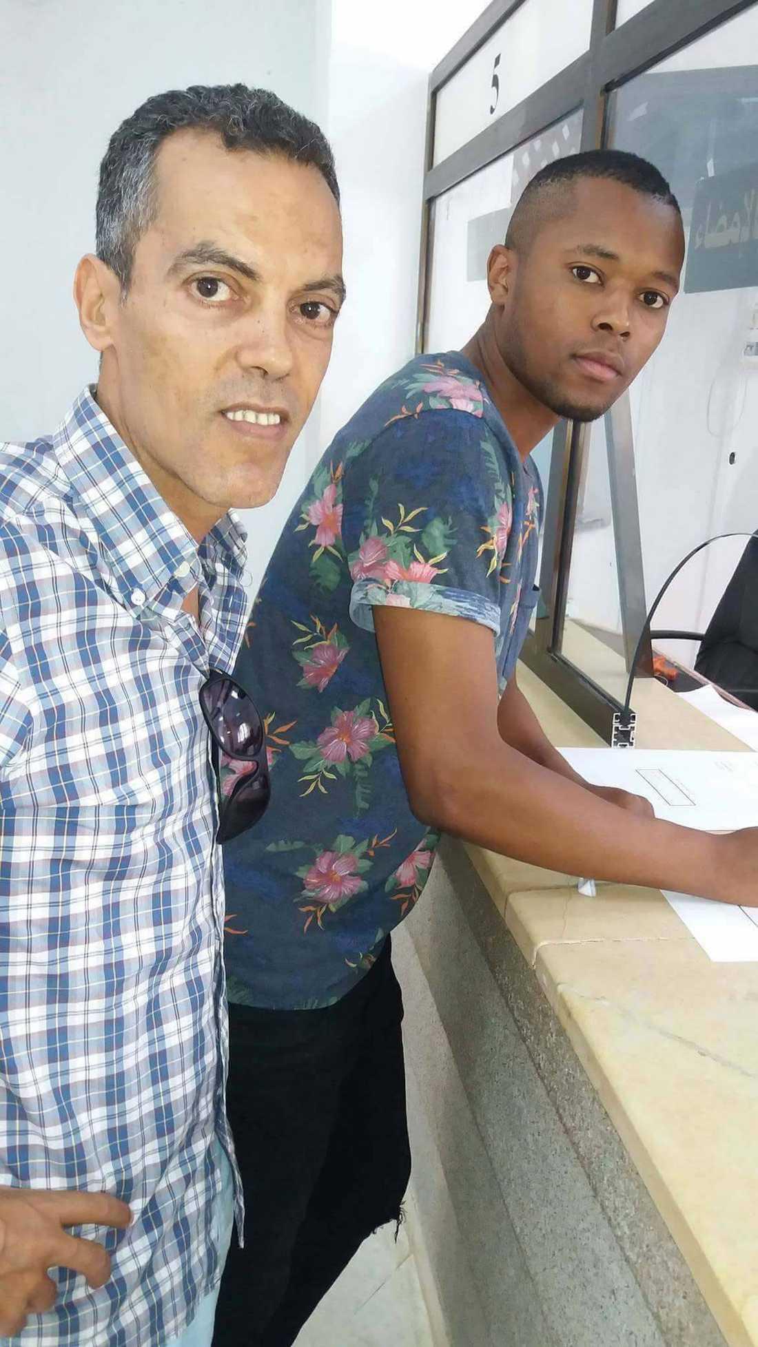 Ghassem Maklouf och Alieu Darbo.