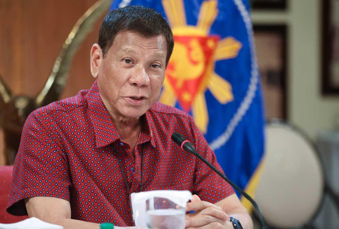 Filippinernas president Rodrigo Duterte. Arkivbild.