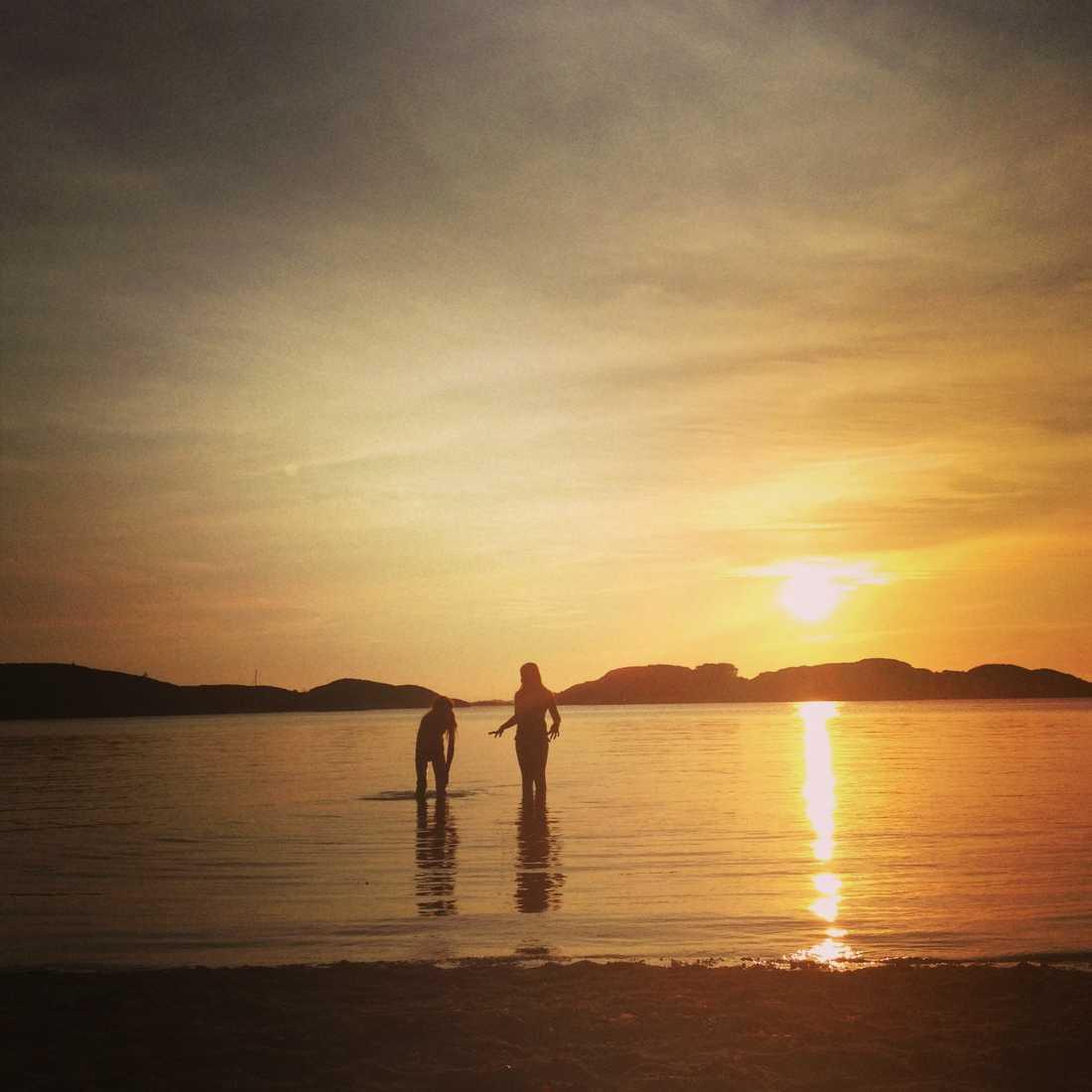 En fin solnedgång på Resö
